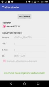 Driver pre elio P100 k tlači z VRP virtuálna registračná pokladnica