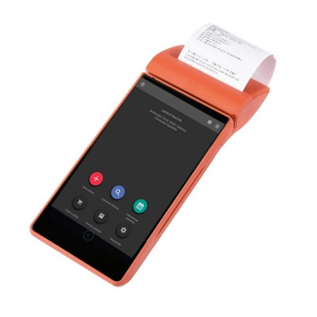 Mini Tlačiareň elio miniPOS M500 VRP je malá prenosná tlačiareň s Androidom určená na tlač pokladničných dokladov z VRP – virtuálnej registračnej pokladnici