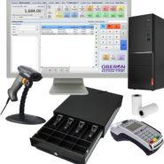 Zostava obsahuje elegantný Monitor s počítačom + pokladničný softvér sklad, pokladnica OBERON + zariadenie FiskalPRO VX 520 ETH + pokladničnú zásuvku + skener