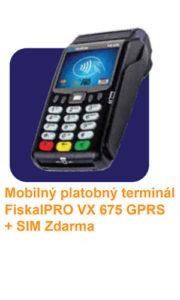 FiskalPRO VX675 GRPS eKasa 3 v 1 je mobilná tlačidlováregistračná pokladnica s platobným terminálom a množstvom užitočných funkcií a to všetko za cenu bežnejpokladnice,s výhodnými poplatkamiza platby kartou. Plne kompatibilná s riešením eKasa.
