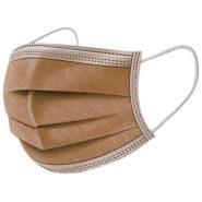 Ochranné rúška BÉŽOVÉ jednorázové 3-vrstvové vysokej kvality z netkanej textílie