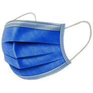 Ochranné rúška MODRÉ jednorázové 3-vrstvové vysokej kvality z netkanej textílie