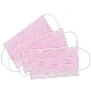 Ochranné rúška RUŽOVÉ jednorázové 3-vrstvové vysokej kvality z netkanej textílie