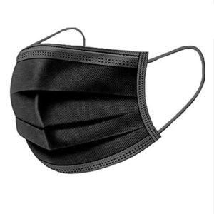 A.L.K.A. Ochranné rúška ČIERNE jednorazové 3-vrstvové vysokej kvality z netkanej textílie
