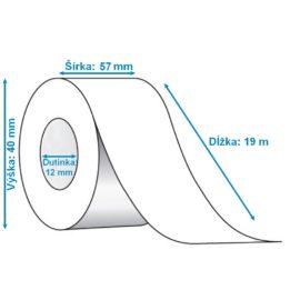 Termo pásky rozmer 57 mm