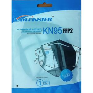 Respirátor KN95 - Čierny - ochranný faktor FFP2 - 5 ks