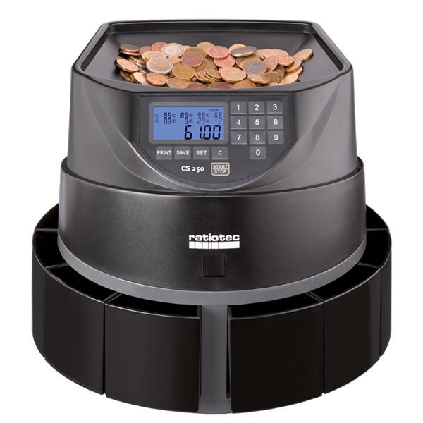 Ratiotec Coinsorter CS 250 - rýchla a robustná počítačka mincí