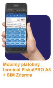 FiskalPRO A8 eKasa - dotyková registračná pokladnica s platobným terminálom, integrovanou čítačkou čiarových, QR kódov a množstvom užitočných funkcií.