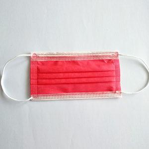 A.L.K.A. Ochranné rúška ČERVENÉ jednorazové 3-vrstvové vysokej kvality z netkanej textílie