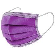 Ochranné rúška FIALOVÉ jednorázové 3-vrstvové vysokej kvality z netkanej textílie