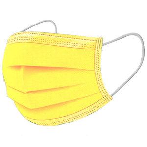 Ochranné rúška ŽLTÉ jednorázové 3-vrstvové vysokej kvality z netkanej textílie