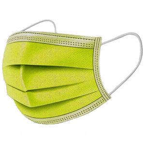 Ochranné rúška ŽLTO-ZELENÉ jednorázové 3-vrstvové vysokej kvality z netkanej textílie