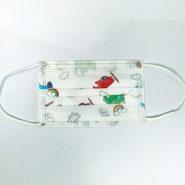 Pestrofarebné detské jednorazové ochranné rúška s motívom - LIETADIELKO