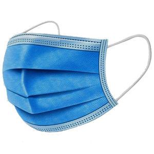 MEDICÍNSKE Ochranné rúška jednorazové 3-vrstvové vysokej kvality z netkanej textílie – 50 kusov