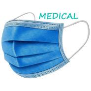 MEDICÍNSKE Ochranné rúška jednorazové 3-vrstvové vysokej kvality z netkanej textílie