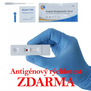 Antigénový rýchlotest ZDARMA