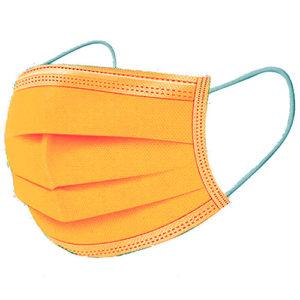 Ochranné rúška ORANŽOVÉ jednorazové 3-vrstvové vysokej kvality z netkanej textílie