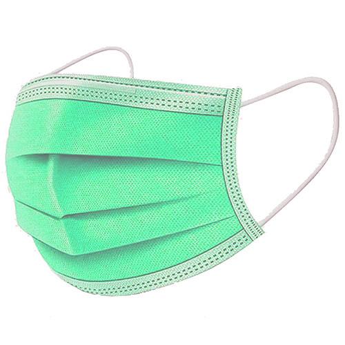 A.L.K.A. Ochranné rúška SVETLO-ZELENÉ jednorazové 3-vrstvové vysokej kvality z netkanej textílie