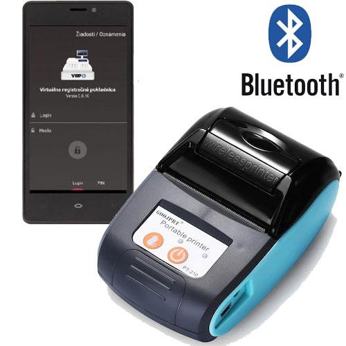 Tlačiareň k virtuálnej pokladni VRP Goojprt PT-210 pre tlač z VRP - virtuálna registračná pokladnica
