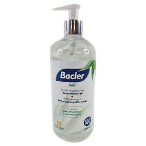 Dezinfekčný gél s príjemnou vôňou - 500 ml. Vďaka obsahu Aloe a vitamínu B5 nevysušuje ruky.