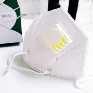 Respirátor FFP3 s výdychovým ventilom a s EÚ certifikátom
