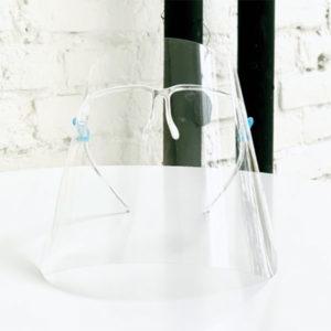 Ochranný štít na tvár s okuliarovým rámom