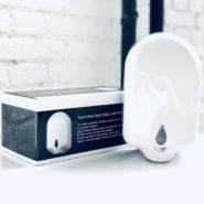 Bezdotykový dezinfekční AKU dávkovač na stenu s infračerveným senzorom