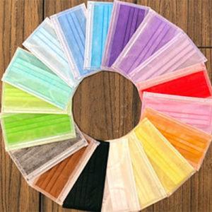 Ochranné rúška - 10 RÔZNYCH FARIEB - jednorazové 3-vrstvové vysokej kvality z netkanej textílie - 10 kusov