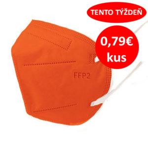 Respirátor FFP2 vyrobený v EÚ - Oranžový