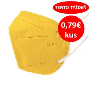 Respirátor FFP2 vyrobený v EÚ - Žltý