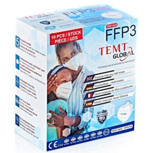 Temt Global - Premium FFP3 respirátor, certifikovaný, účinnosť nad 99%