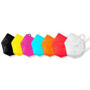 Bari Medical - kolekcia FFP2 respirátorov každý v inej farbe - 7 kusov