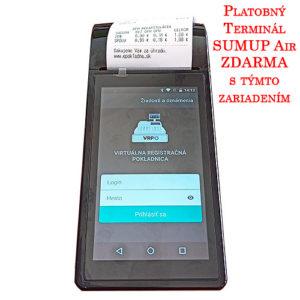 Tlačiareň k virtuálnej pokladni VRP ExVan MiniPOS 02 - virtuálna registračná pokladnica, čierna