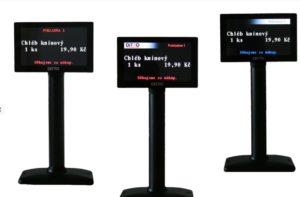"""Náhrada za VFD displej. Farebný TFT alfanumerický zákaznícky displej 5 """"800x480 s komunikačným protokolom VFD displeja. Režim 2x20 alebo 4x20 znakov. Napájanie cez USB (nepotrebuje externý napájací zdroj)."""
