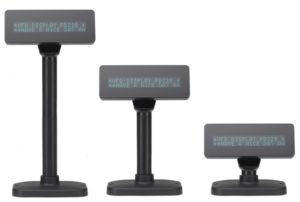 VFD zákaznícky displej 2x20 znakov, výška znaku 9 mm, farba zelená, USB rozhranie, autodetekcie komunikačného protokolu. Napájanie cez USB (nepotrebuje externý napájací zdroj).