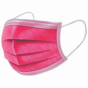 A.L.K.A. Ochranné rúška TMAVO-RUŽOVÉ jednorazové 3-vrstvové vysokej kvality z netkanej textílie
